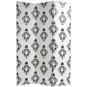 Amazon.com: Unique Fabric Print Room Divider, 6ft. Double Print Black & White European Style Folding Floor Screen: Kitchen & Dining