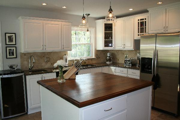 Walnut Kitchen Island Transitional Kitchen Sherwin Williams Creamy