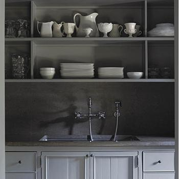 Gray Kitchen Cabinets, Country, kitchen