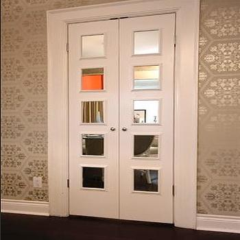 Bi fold closet doors with wallpaper design ideas metallic wallpaper view full size eventshaper
