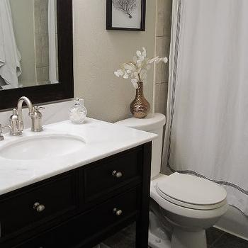 Costco Bathroom Vanities, Transitional, bathroom, Benjamin Moore Revere Pewter, Freckles Chick