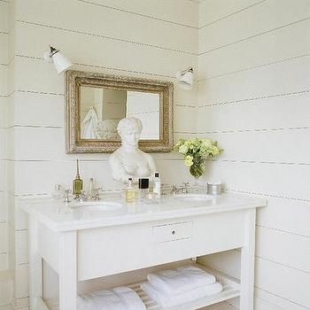 In Bathroom Love The Minimalism Of This Space White Sink Vanity