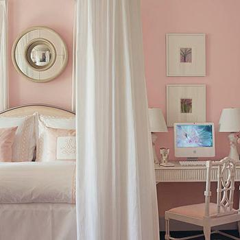 Pink Girl S Room With Sherwin Williams White Dogwood Paint