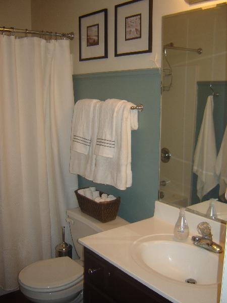 Blue Paint Colors In Cottage Bathroom  Behr Cloud Burst