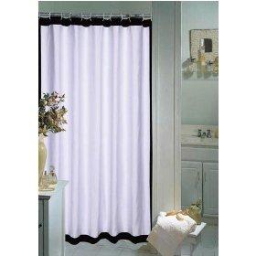 Glamour White And Black Shower Curtain