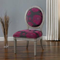 haley fuchsia chair