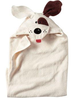 White And Brown Critter Hooded Towel