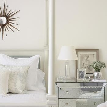 Mirrored Nightstand, French, bedroom, James Michael Howard