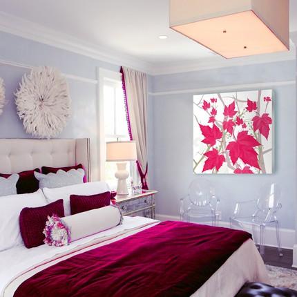 Tufted Wingback Headboard Contemporary Bedroom