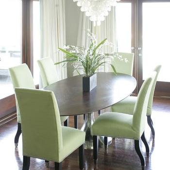 green dining chairs - Green Dining Room Furniture