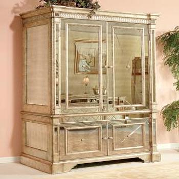Attrayant Borghese Mirrored Armoire