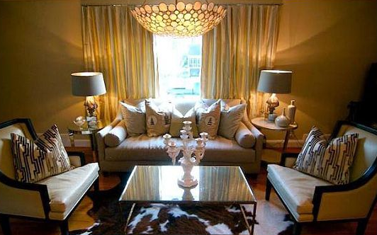 Mirrored Top Coffee Table - Transitional - living room