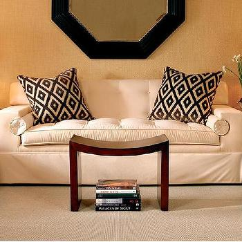 Ivory Tufted Sofa, Transitional, living room