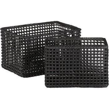 Crate and Barrel, Marikina Totes shopping in Crate and Barrel Baskets