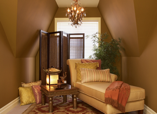 Miscellaneous Brown wall color living room