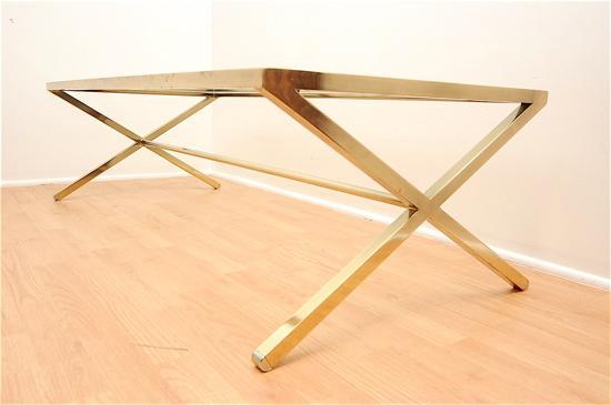 hollywood regency x base gold coffee table. Black Bedroom Furniture Sets. Home Design Ideas