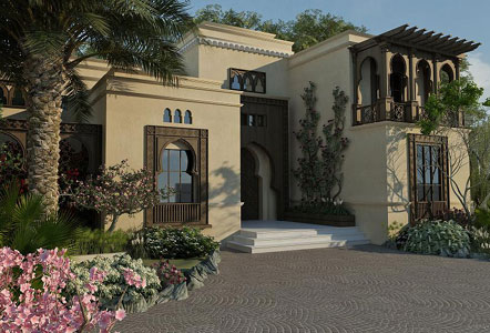 Home exterior for Arabic home design