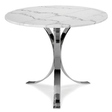 Jonathan Adler Caprice Three Leg White Top Round Cafe Table