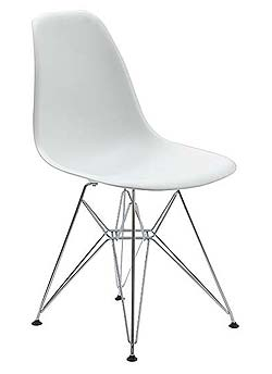 eames plastic molded plastic side chair look 4 less. Black Bedroom Furniture Sets. Home Design Ideas