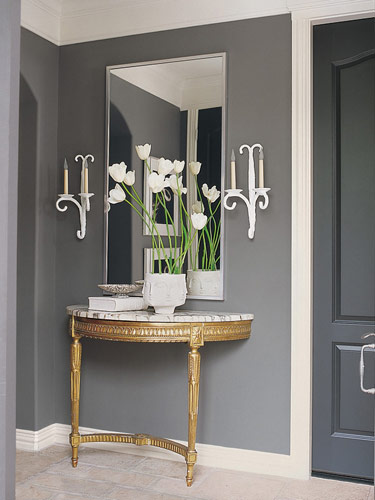 Half Moon Console Table Design Ideas