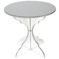 Casper Clear Acrylic Side Table Round Small Tables for ...