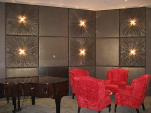 Brown Fabric Covered Walls And Panels