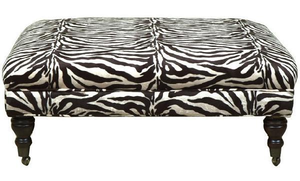 Zebra Bench Ottoman Look 4 Less