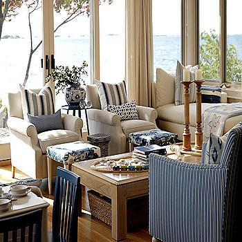 Striped Living Room Chairs. Cottage Living Room Striped Chairs Design Ideas