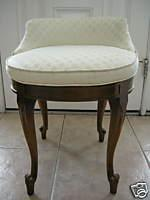 Magnificent Vintage Hollywood Regency Ivory And Brown Swivel Vanity Short Links Chair Design For Home Short Linksinfo