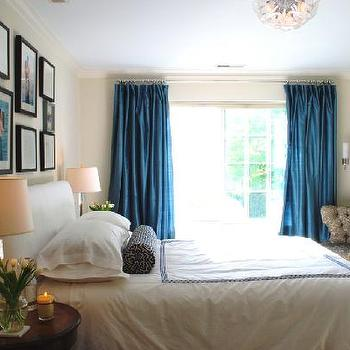 Blue Curtains, Transitional, bedroom, Benjamin Moore Feather Down, Teresa Meyer Interiors