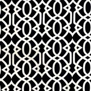 Black And White Imperial Trellis Pattern Fabric