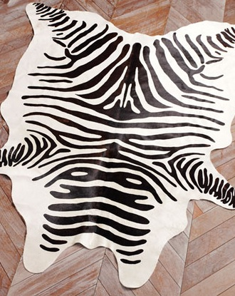horchow zebra cowhide rug view full size
