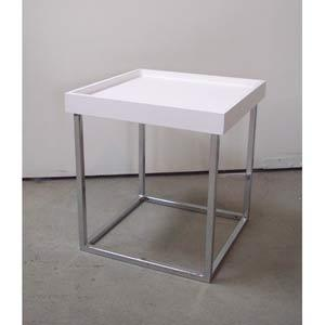 Small White Stack Table in Accent Tables from Bellacor