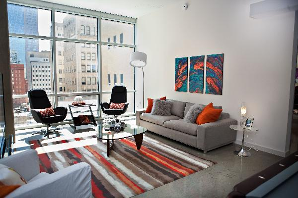 Since It Is Typical Of Loft Apartments To Be Bare And Industrial In Nature I Wanted Provide More Texture Color Interest
