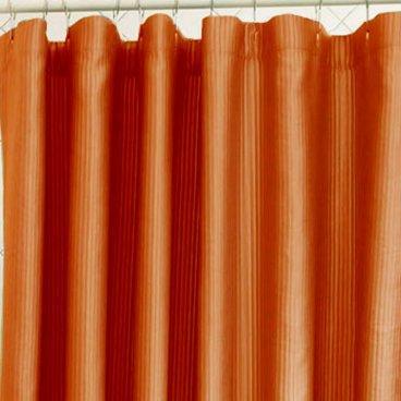 Orange Ribbed Shower Curtain