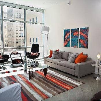 Grey And Orange Living Room bright orange sofa design ideas