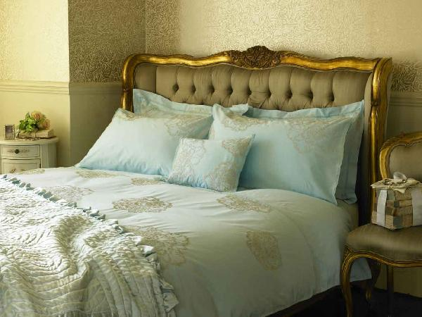 Beautiful Bed Mesmerizing Of Duck Egg Blue and Gold Bedding Photos