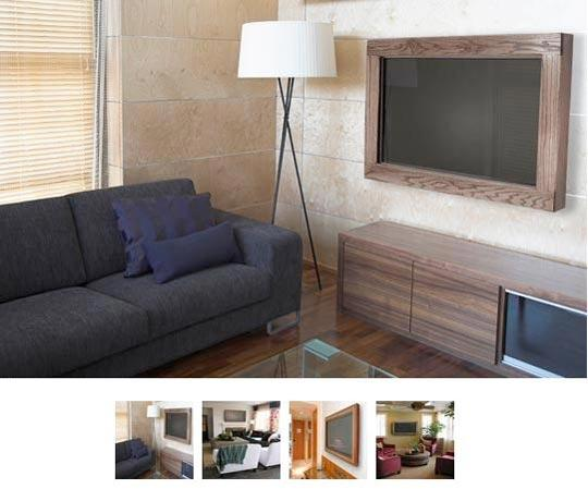Black Flat Panel Tv Frame