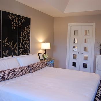 gray beige paint bedroom benjamin moore revere pewter design decor