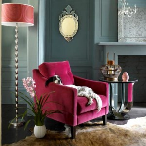 Hot Pink Accent Chair, Eclectic, den/library/office