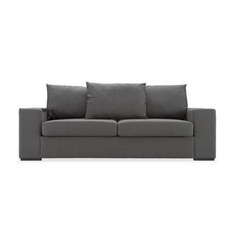 Light Gray Wingback Two Cushion Sofa