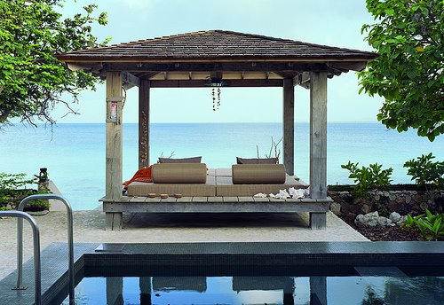 Outdoor lounger asian deck patio for Zen pool design