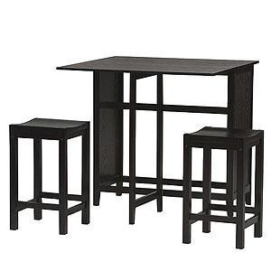 Black Tall Table And Stools
