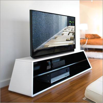 Rectangle Open Shelf White Tv Stand