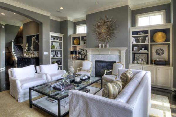 White Slipcovered Sofa View Full Size