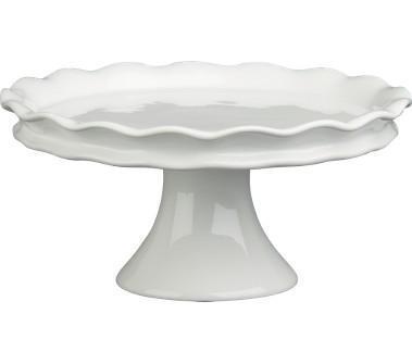 sc 1 st  Decorpad & White Ruffled Edges Pedestal Cake Stand