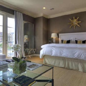 Brown and Yellow Bedroom, Transitional, bedroom