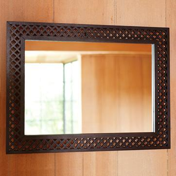 Wood Wall Mirror hayden rectangular wood wall mirror