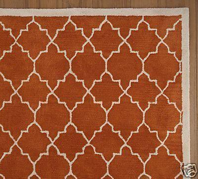 Orange Arabesque Pattern Rug