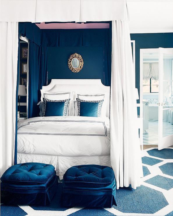 Blue Bedroom, Transitional, bedroom, Mary McDonald